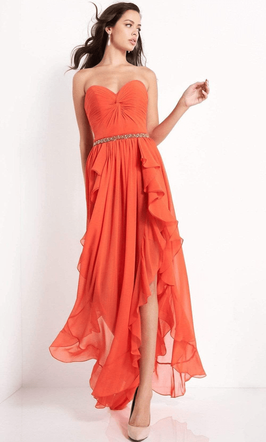 High-Low Ruffle Gown