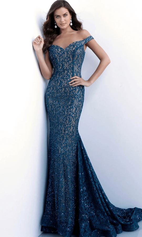 Lace Embellished Long Dress