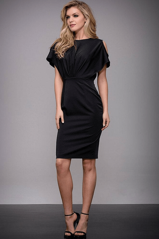 Solid Knee-Length Dress